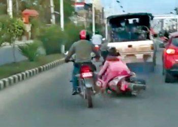 पूर्वप्रधानमन्त्री चन्दको सुरक्षार्थ खटिएको प्रहरीको गाडी चालकलाई पाँच सय जरिवाना