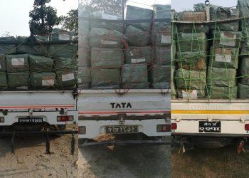 भद्रपुर भन्सार कार्यालयबाटै तस्करी,२८६ कार्टुन अवैध मोबाइल सामग्री बरामद